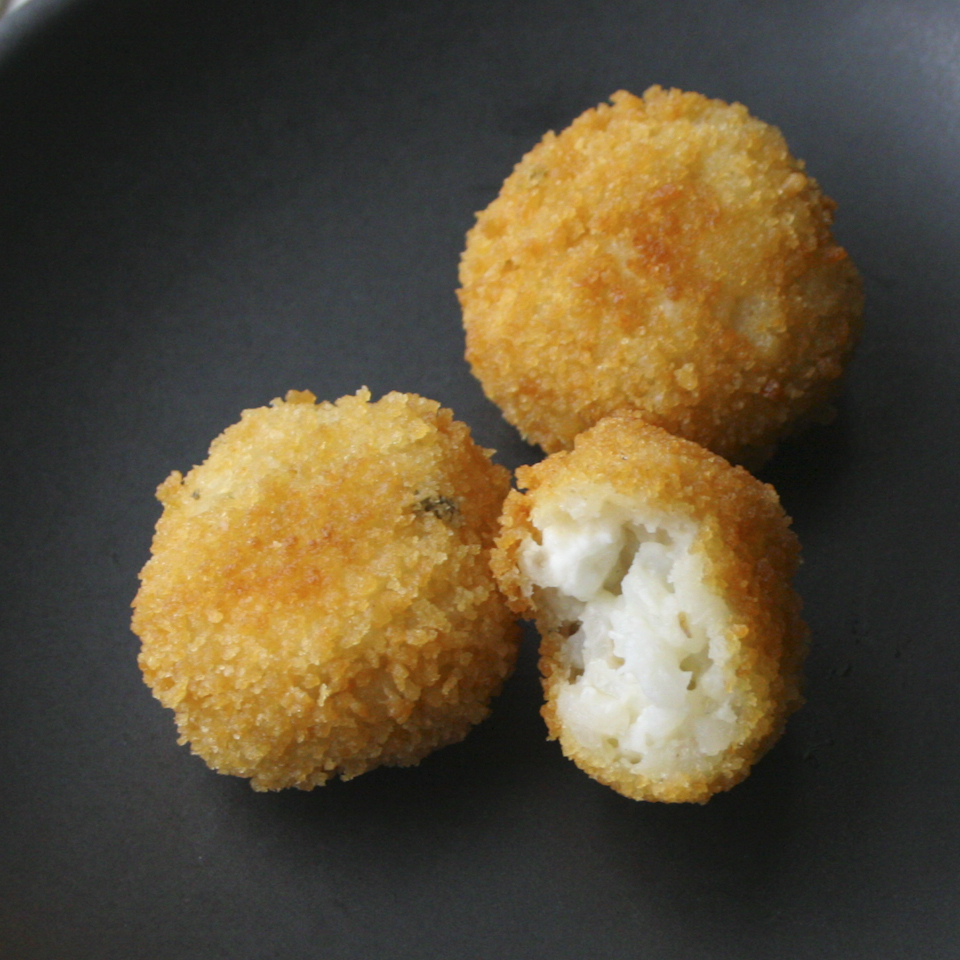 Mozzarella And Asiago Arancini Recipe — Dishmaps